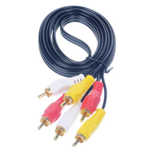 3RCA TO 3 RCA CABLE 1.5 MTR